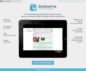 BookServe has its own website where you can signup your property.