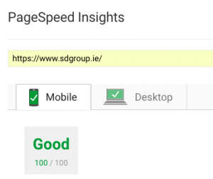 100% score for WordPress on Google Insights - Mobile